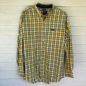 RALPH LAUREN easy care yellow plaid shirt/XL